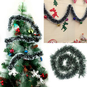 Details About 1pcs 200cm Christmas Ribbon Tinsel Garland Christmas Tree Door Ornament Hanging
