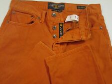 Lucky Brand Orange 121 Heritage Slim Button Fly Jeans Size 29x32 EUC