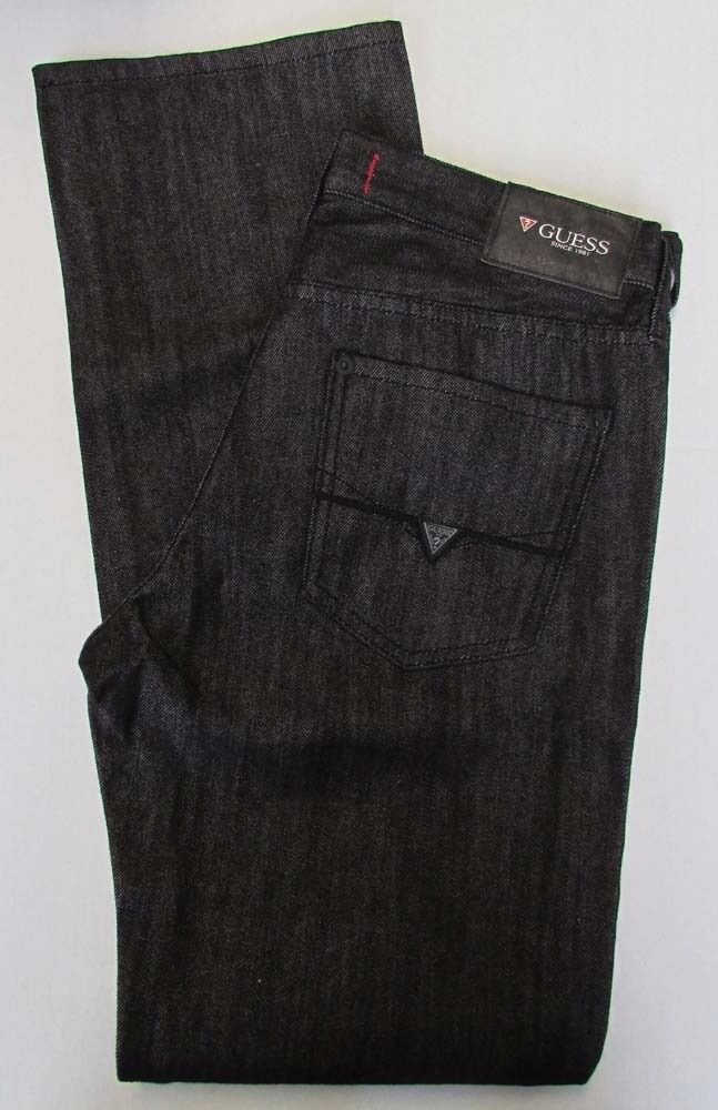 NWT Guess Jeans Regular Straight Crescent Fit Dark Charcoal Sz W 29 x L 32