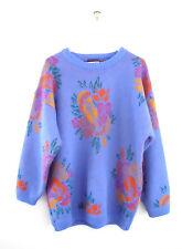 Ukulele Fashion Chunky Sweater Vintage 1990s ESPRIT Oversized Floral Hawaiian M