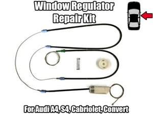 1x-Fenetre-Regulateur-Reparation-Kit-Pour-Audi-A4-cabriolet-convert-avant-droite-02-12