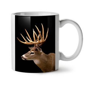Deer Face Wild Animal NEW White Tea Coffee Mug 11 oz | Wellcoda