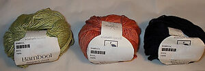 Elsebeth-Lavold-Bambool-Bamboo-Blend-Yarn-Color-Choice-Loom-Knit-Crochet-FS