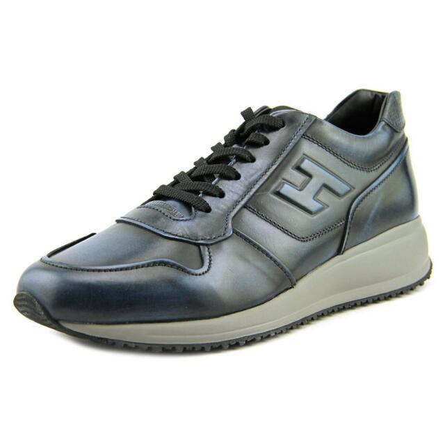 Hogan Interactive N20 Sneaker H Rilievo Men   Leather Blue Fashion Sneakers