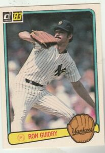 FREE-SHIPPING-MINT-1983-Donruss-31-Ron-Guidry-New-York-Yankees-PLUS-BONUS-CARDS
