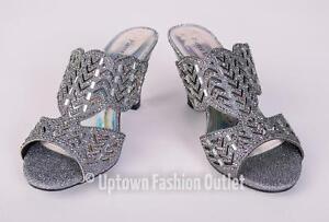 e0badb16f862 Women s Pierre Dumas Low Heel Church Formal Dress Pewter Sandals ...