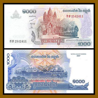 P 58b   Uncirculated Banknotes CAMBODIA 1000   RIELS   2007