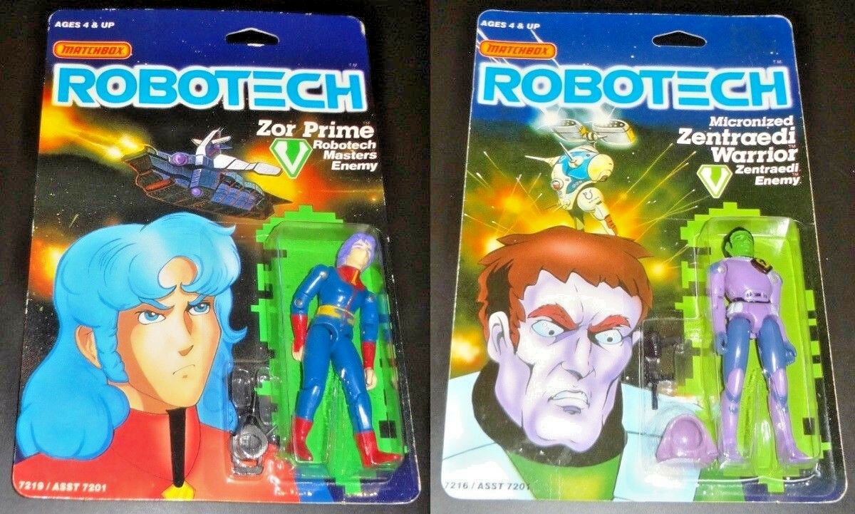 1985 MATCHBOX ROBOTECH ZOR PRIME & & & ZENTRAEDI WARRIOR ENEMY ACTION FIGURE LOT MOC 549274
