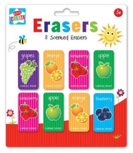 Kids Create 8 Scented Erasers Children Fruit Eraser Rubbers