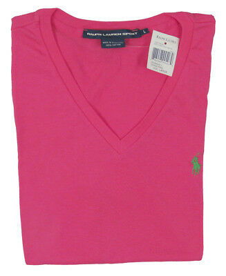 huge inventory wholesale sales 2019 best sell NEW Polo Ralph Lauren Polo Player T Shirt! Womens V Neck Hot Pink | eBay