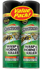 Spectracide Bee Wasp Hornet Yellow Jacket Killer Twin Pack 20 oz can 27 ft spray