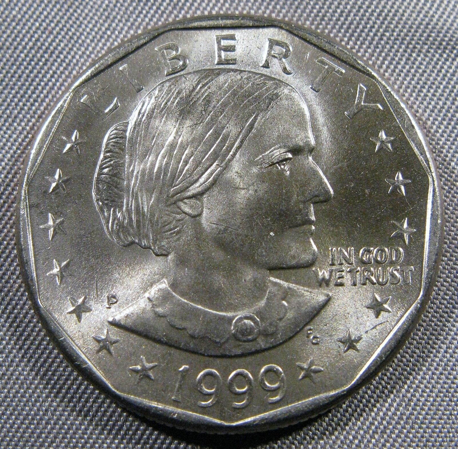 1999 P and D Susan B Anthony Brilliant Uncirculated Dollar set BU