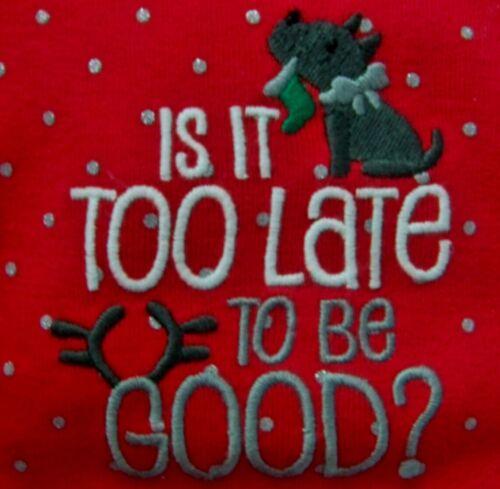 Carter Long-Sleeve Bodysuit//thermal pajamas Santa-Bear-Auntie-Good-Wish NB,3M,6M