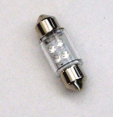 3 BBT Brand Pure White 12 volt 31mm  LED Festoon Type Marine Grade Light Bulbs