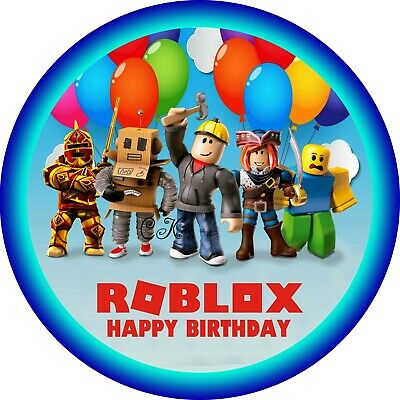 Roblox 7 Inch Edible Image Cake & Cupcake Toppers/ Party ...
