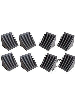 8 Pack Of Corner Bass Trap,Pro Audio,Acoustic Foam.12x12x12inches.sound Proffing