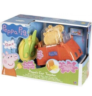 Flashing Lights /& Theme Tune Brand New Peppa Pig Peppa/'s Car Toaster