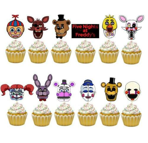 FNAF FIVE NIGHTs at freddy/'s GAME BIRTHDAY PARTY BALLOON CUPCAKE TOPPER CAKE