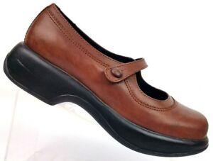 Dansko-Brown-Leather-Mary-Jane-Platform-Wedge-Shoes-Women-039-s-9-5-10-EUR-40