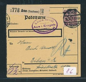 86601-DR-Weimar-Paketkarte-1931-ab-Aue-EF-100PF