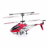 Syma Indoor Remote Control Rc Mini Beginner Toy Helicopter 3.5 Channel Gyro Red