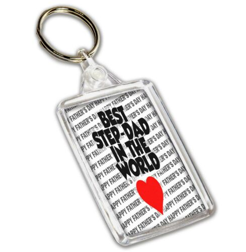 Best Step-Dad In The World Happy Father/'s Day Keyring Fathers Day Gift