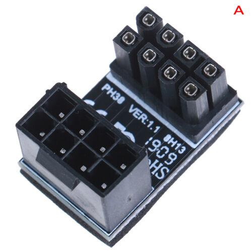 ATX 8pin macho a 8Pin hembra de 180 Grados Adaptador de Alimentación para tarjeta gráfica Desktops