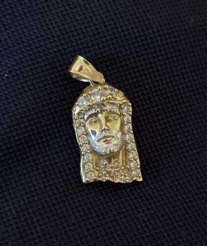 10k gold jesus face pendant