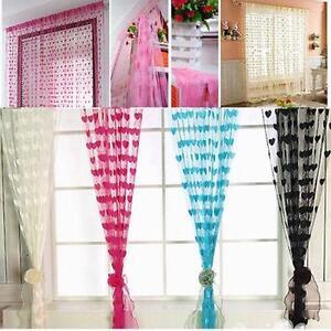 Door-String-Curtain-Window-Tassel-Room-Divider-Panel-Fringe-Beads-Fly-Screen-SI