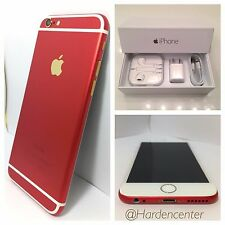 CUSTOM RED & GOLD iPhone 6 - 64GB - (Unlocked) Straight Talk Tmobile Cricket