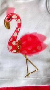 * Mud Pie * Baby 6-9 Mois Flamingo Débardeur Pantalon/tutu Jupe Set-afficher Le Titre D'origine