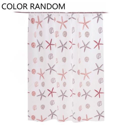 Random style print tragbarer wasserdichter Duschvorhang für Badezimmer 10 Haken