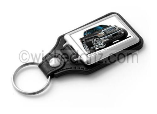 RetroArtz Cartoon Cars Ford F-150 Pick Up in Black Classic Key Ring