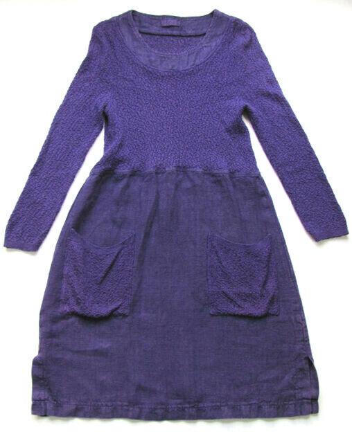 UNO Danmark Leinen  Baumwoll Kleid,Farbe lilat One Größe  S M  G 102