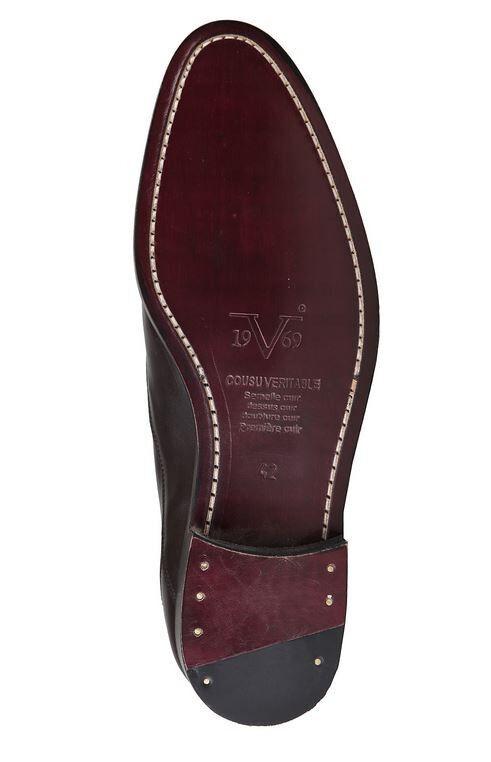 Versace V1969 Business SIMON braun marron Echtleder Business V1969 Herrenschuhe Gr 41 beb113