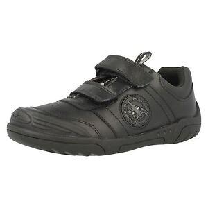 bd77602061f7 SALE Boys Clarks Wing Smart Inf   Jnr Black Leather School Shoes