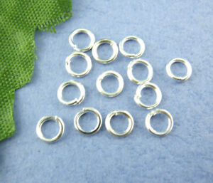 1200PCS-5mm-Making-Jewelry-Findings-Silver-Plated-Open-Single-Loops-Jump-Rings