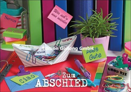 "Grußkarte/""Zum Abschied/""Büro/""Ciao*Servus*Abschied Kollege*12,5x18,5*Doppelkarte"