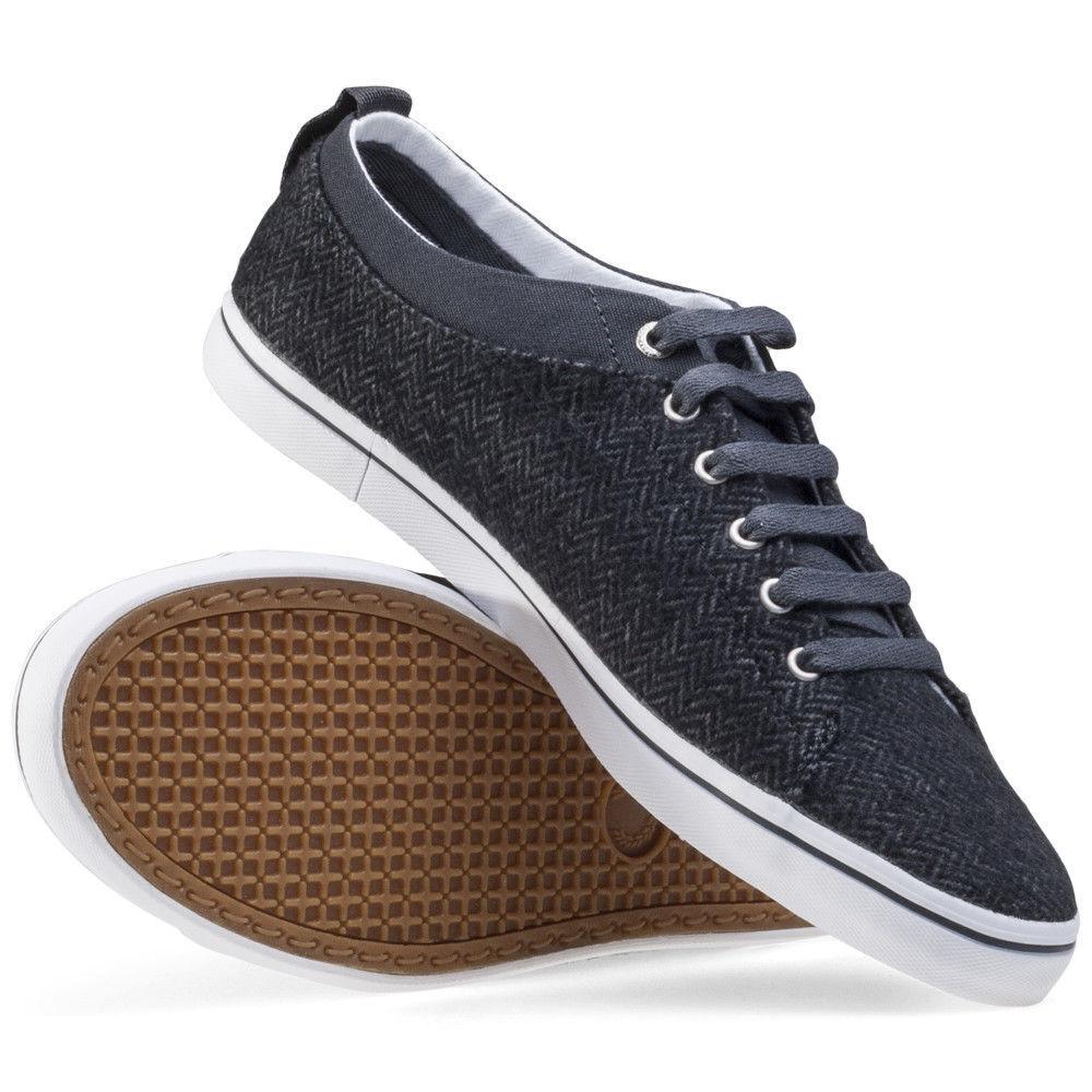 Fred Perry Men's Hallam Hallam Herringbone Tweed Trainers Shoes SB9342-491