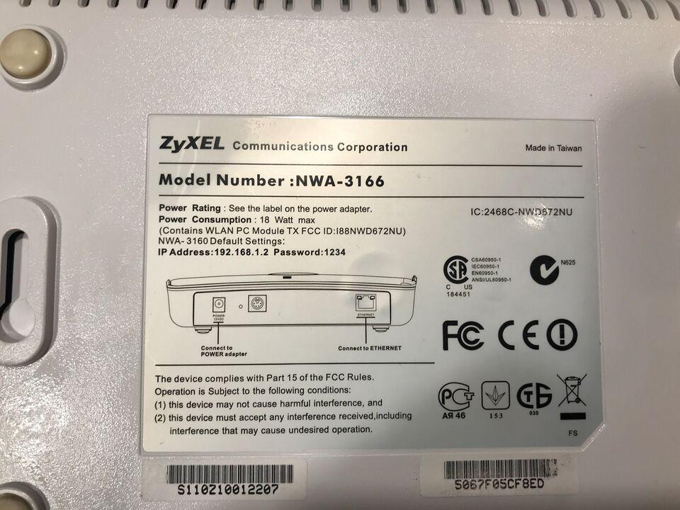 Access point, Zyxel NWA-3166, Perfekt