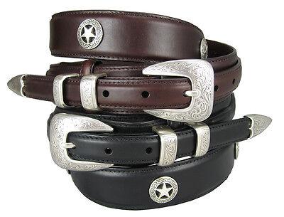 Waco Texas Star Men/'s Concho Ranger Genuine Leather Jean Cowboy Belt