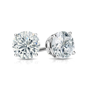 Details About 1 Carat Lab Grown Diamond Stud Earrings In 14k White Gold
