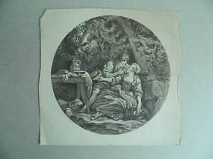 Siglo Xx O antes De Antigua Grabado Original Anonymous Vista Redondo Romántica