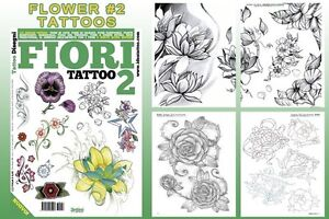 Fiori 66.Fiori 2 Flowers Tattoo Flash Design Book 66 Pages Cursive Writing