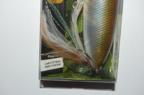 "evergreen sb-150  topwater pencil bait spook 5 7//8/"" 1 9//16oz natural gill"