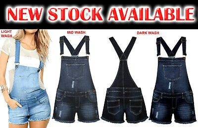 Women's Ladies Sexy Denim Jeans Dungaree Short Dress Jumpsuit Stretch Play Suit