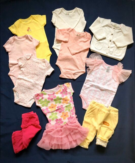 11 pc Baby Girl clothes 0-3 mo Carters, ZARA, Koala, Just ...