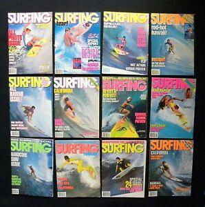 SURFING-MAGAZINE-1988-VOL-24-LOT-OF-12-ISSUES-SURFER-LONGBOARDING-HAWAII