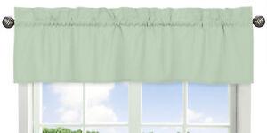 Mint-Green-Window-Valance-Curtain-For-Sweet-Jojo-Designs-Bedding-Bedroom-Decor