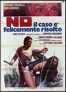 NO IL CASO E' FELICEMENTE RISOLTO MANIFESTO FILM POLIZIESCO 1973 MOVIE POSTER 2F - Italia - NO IL CASO E' FELICEMENTE RISOLTO MANIFESTO FILM POLIZIESCO 1973 MOVIE POSTER 2F - Italia